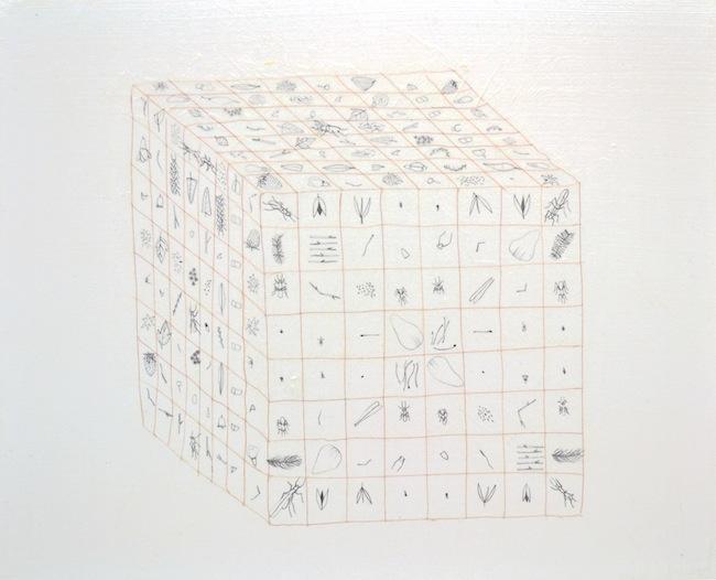 Tamara Ferioli-Sleep Start | Winter-2012-matite e capelli su carta giapponese intelata-40x50cm