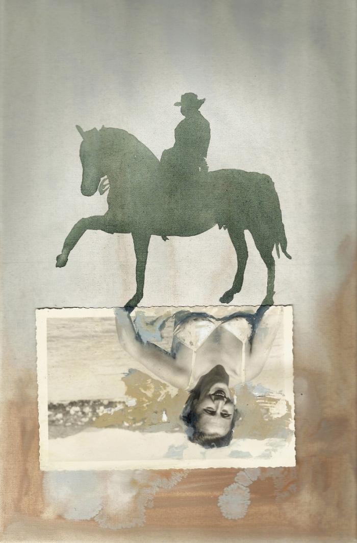 Borders, tecnica mista su tela, cm 20x30, 2012