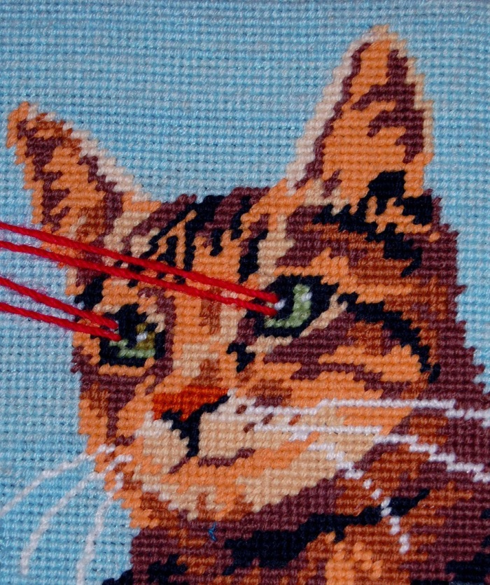 A Singer. detail diptych - Two small parts, 2013. Wool tapestry. (2)