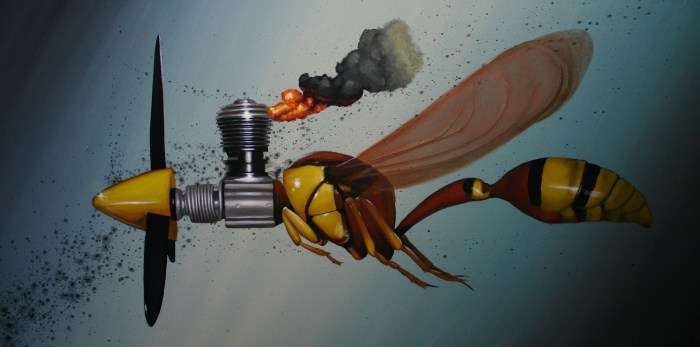 Lucky Strike 8 W.A.S.P. 24x48 acrylic on canvas $2000