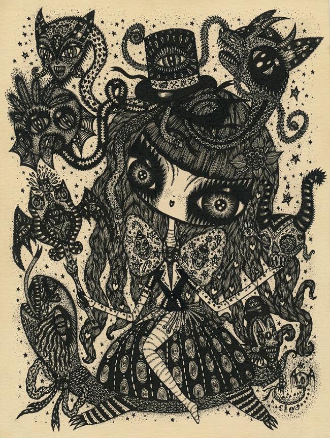 Ciou_KochxBosGallery_skull-spell 22x28cm