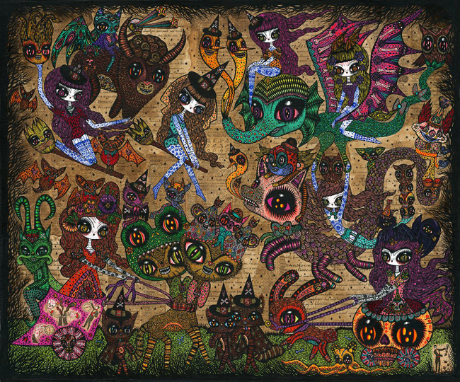 Ciou_KochxBosGallery_witches-convention74x63cm