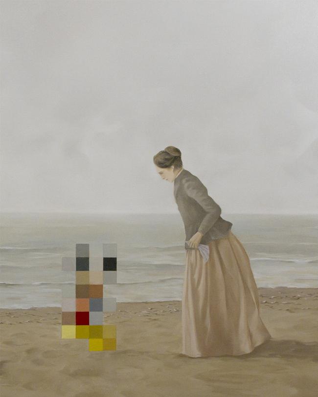 Sulla riva. 40 x 50. olio su tela. 2013