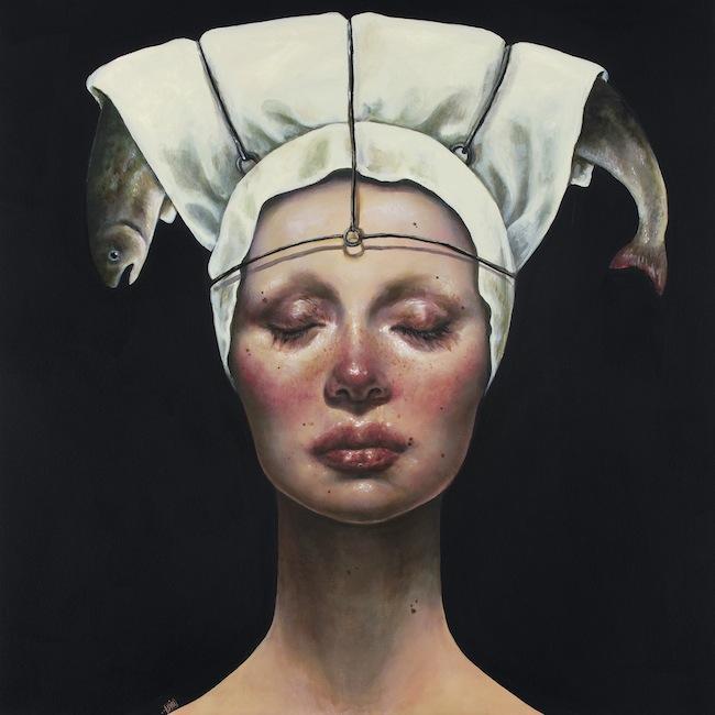 Afarin Sajedi_Chef Offer 3_100x100cm_Acrylic on canvas
