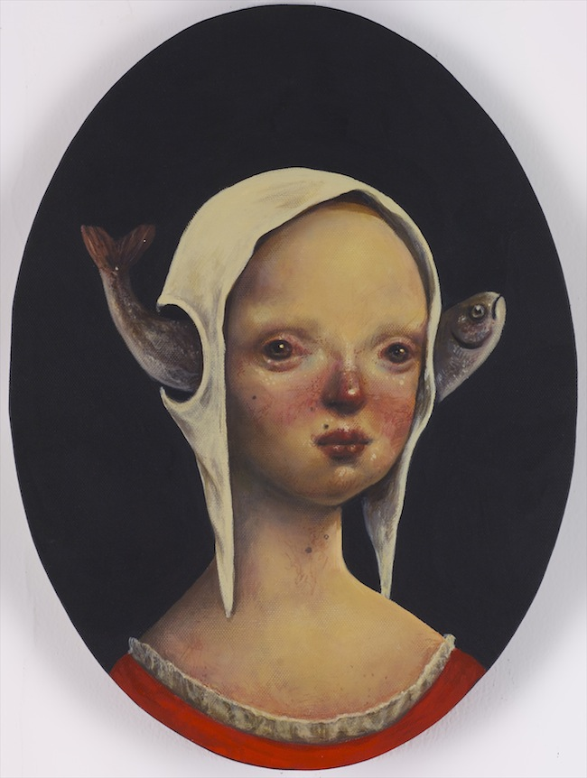 Afarin Sajedi_Young Patience_30x40cm_Acrylic on canvas