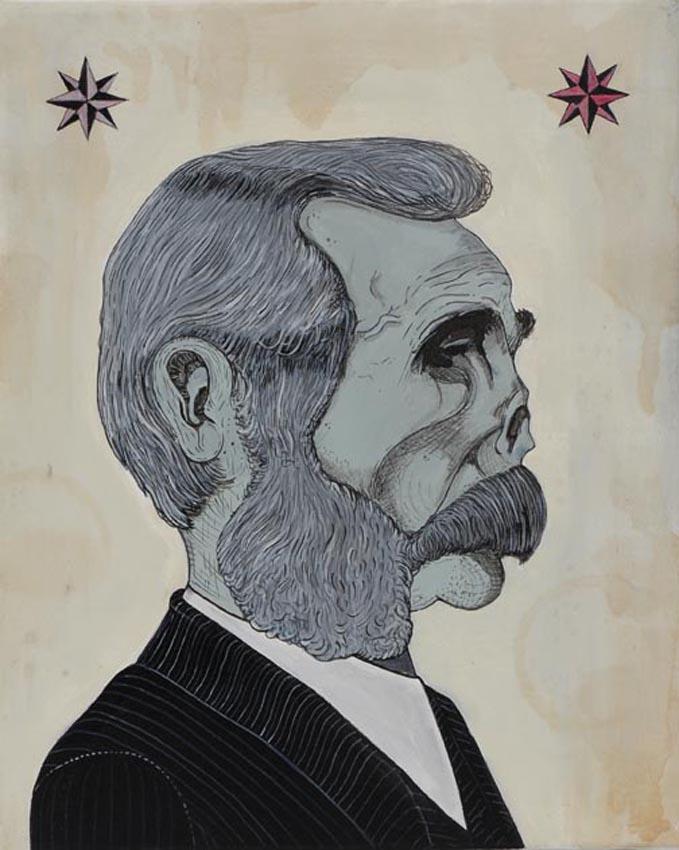 knore - titolo - zar - tecnica mista su tela - 24x30 cm , 2012