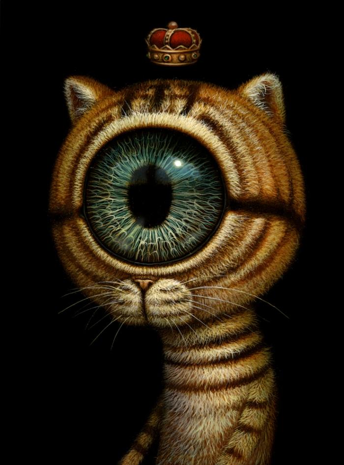 King eyecat_13x18cm_acryliconboard